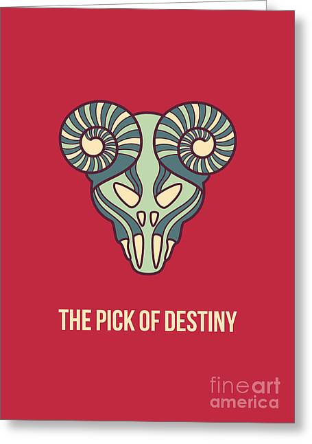 Picked Greeting Cards - The pick of destiny Greeting Card by Freshinkstain