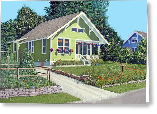 Character Paintings Greeting Cards - The Pickles house Greeting Card by Gary Giacomelli