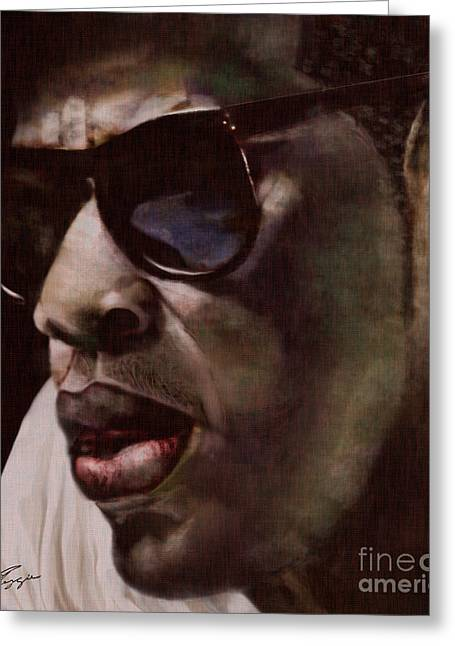 Super Stars Paintings Greeting Cards - The Pied Piper of Intrigue - Jay Z Greeting Card by Reggie Duffie
