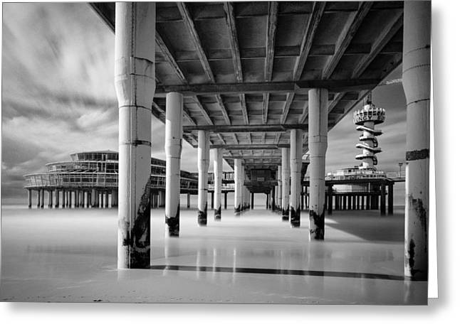 Scheveningen Greeting Cards - Scheveningen Pier 3 Greeting Card by Dave Bowman