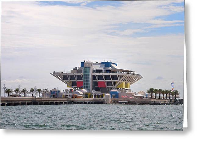 St Petersburg Florida Greeting Cards - The Pier at St Petersburg Greeting Card by Bill Cannon
