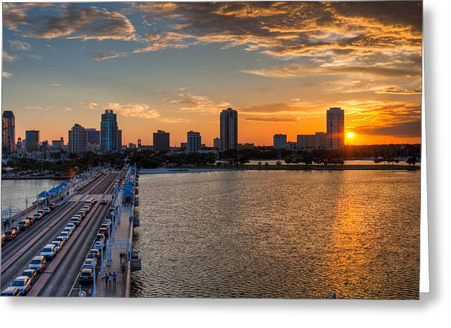 St Petersburg Florida Greeting Cards - The Pier Greeting Card by Bao D