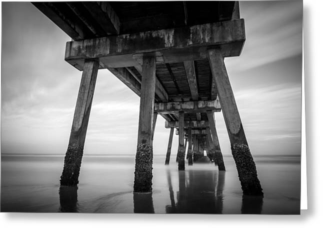 Beach Photos Digital Greeting Cards - The Pier Greeting Card by Clay Townsend