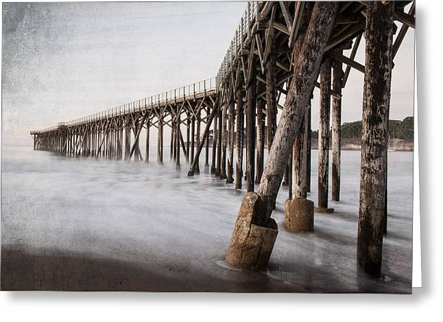 Big Sur California Greeting Cards - The Pier Greeting Card by George Buxbaum