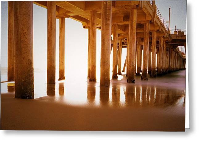 Pier Pilings Greeting Cards - The Pier Greeting Card by Heidi Smith