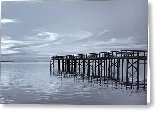 Kim Hojnacki Greeting Cards - The Pier Greeting Card by Kim Hojnacki