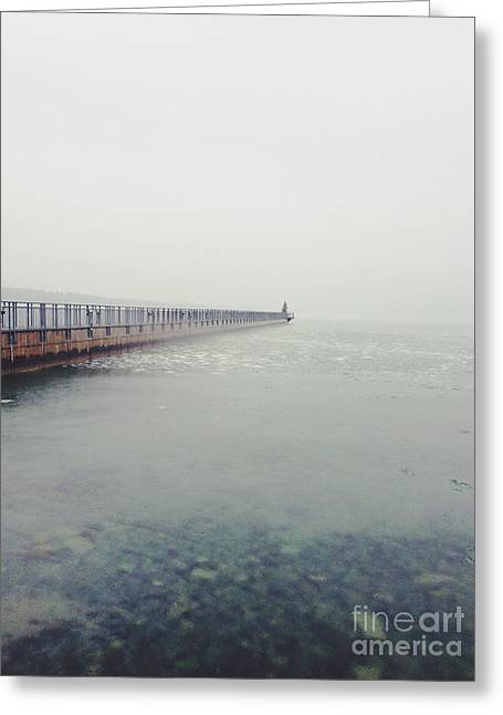 Skaneateles Greeting Cards - The Pier Greeting Card by Lisa Walsh