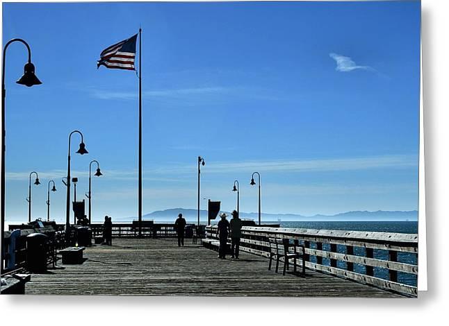 Ventura California Greeting Cards - The Pier Greeting Card by Michael Gordon