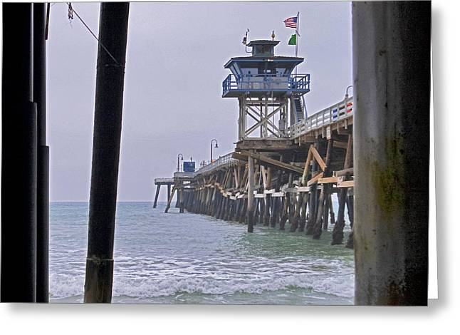 The Pier Greeting Card by Ben K