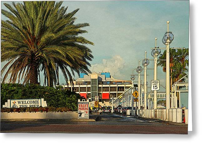 St Petersburg Florida Greeting Cards - The Pier 2 -  St. Petersburg FL Greeting Card by HH Photography