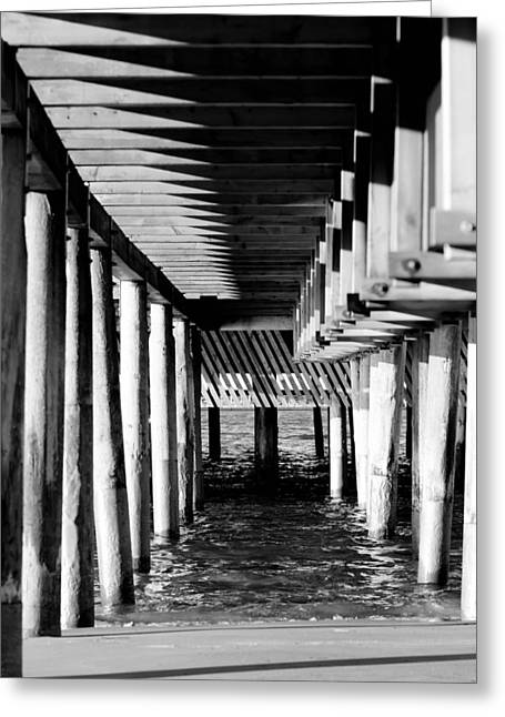 York Beach Mixed Media Greeting Cards - The Pier Greeting Card by Toppart Sweden