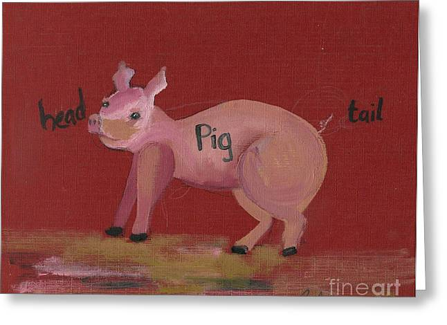Ventura California Greeting Cards - The Pig Greeting Card by Cathy Peterson