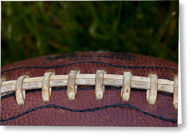 Football Closeup Greeting Cards - The Pigskin Greeting Card by David Patterson