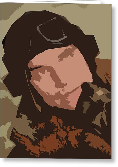 British Portraits Greeting Cards - The Pilot Greeting Card by John Gomez