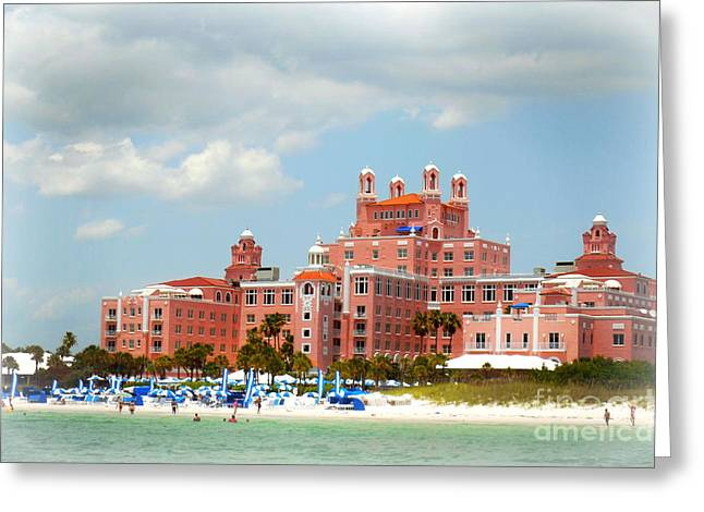 St Petersburg Florida Greeting Cards - The Pink Palace Greeting Card by Valerie Reeves