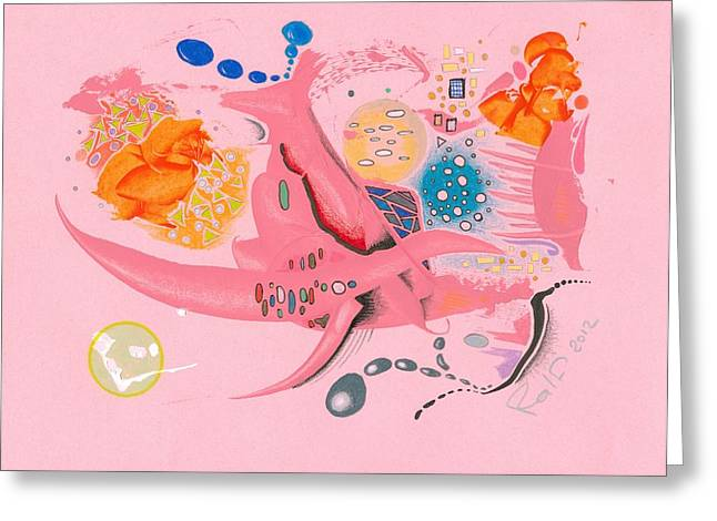 The Pink Space Greeting Card by Ralf Schulze