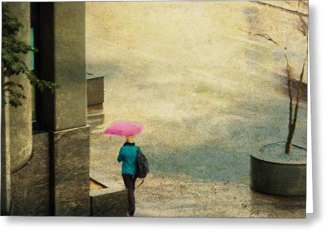 Australia Photographs Greeting Cards - The Pink Umbrella Greeting Card by Constance Fein Harding