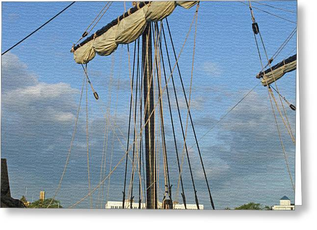 The Pinta Greeting Card by Kay Novy