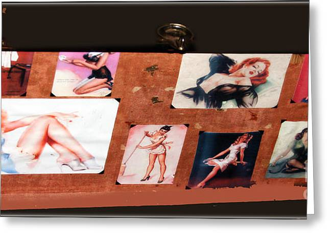 Historical Photographs Greeting Cards - The Pinups - 1940s Greeting Card by Steven  Digman