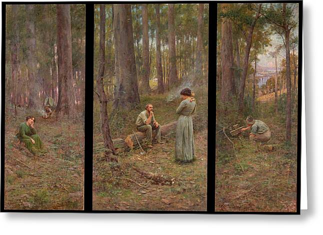 Frederick Greeting Cards - The pioneer Greeting Card by Frederick McCubbin