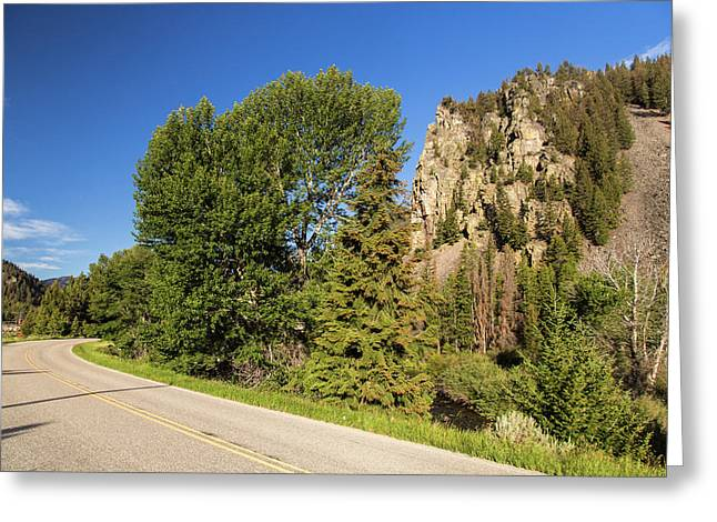 The Pioneer Scenic Byway Greeting Card by Chuck Haney