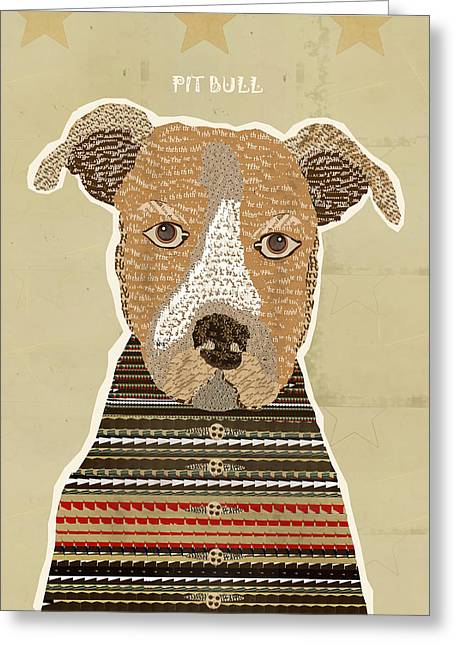 Abstract Of Dogs Greeting Cards - The Pit Bull  Greeting Card by Bri Buckley