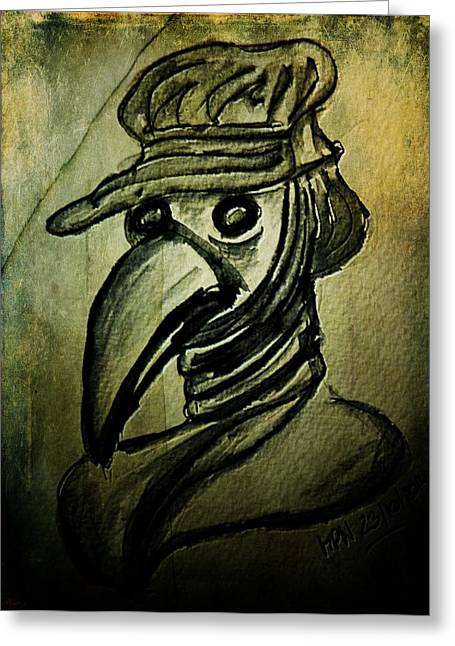Plague Greeting Cards - The Plague Doctor Greeting Card by Mimulux patricia no