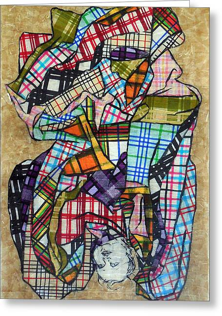 Tartan Quilts Greeting Cards - The Plaid Quilt Greeting Card by Suzanne  Frie