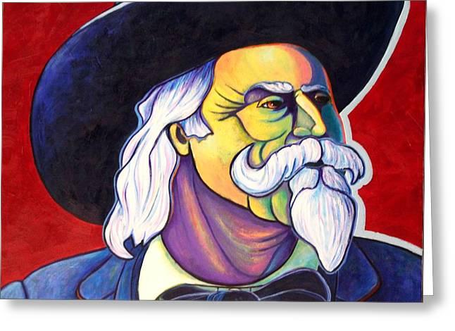 Western Tie Greeting Cards - The Plainsmen - Buffalo Bill Cody Greeting Card by Joe  Triano