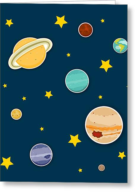 Neptune Greeting Cards - The Planets  Greeting Card by Christy Beckwith