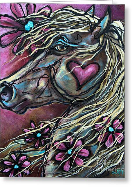 Paso Fino Horse Greeting Cards - The Player Greeting Card by Jonelle T McCoy