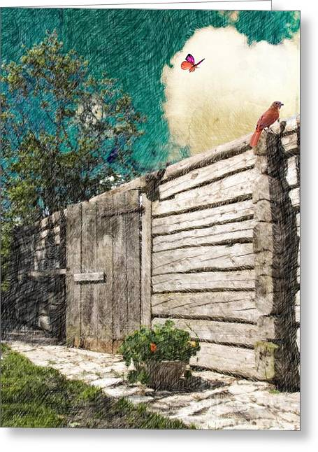 Crosshatching Greeting Cards - The Playful Spirits  Greeting Card by Liane Wright
