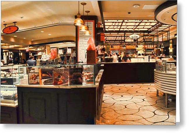 Basement Art Greeting Cards - The Plaza Food Hall Greeting Card by Paulette B Wright