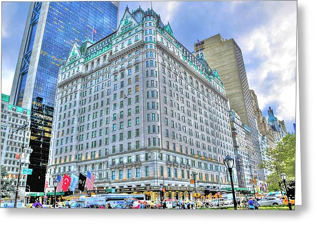 French Renaissance Greeting Cards - The Plaza Hotel Greeting Card by Randy Aveille