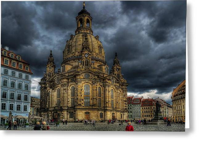 Dresden Greeting Cards - The Plaza in Dresden Greeting Card by Mountain Dreams