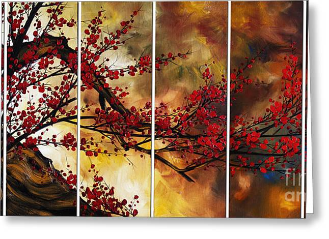 Cherry Blossoms Paintings Greeting Cards - The Plum Blossom 002 Greeting Card by Willson Lau
