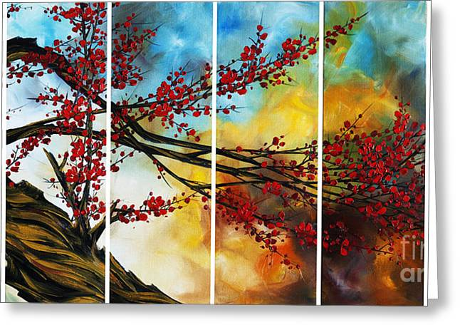 Cherry Blossoms Paintings Greeting Cards - The Plum Blossom 005 Greeting Card by Willson Lau