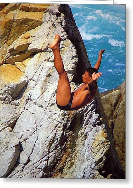 Diving Greeting Cards - The Plunge   Greeting Card by Karen Wiles