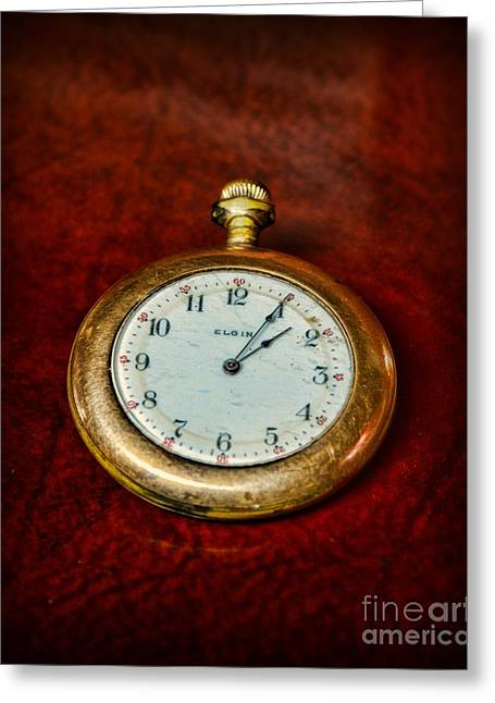 Mechanism Photographs Greeting Cards - The Pocket Watch Greeting Card by Paul Ward