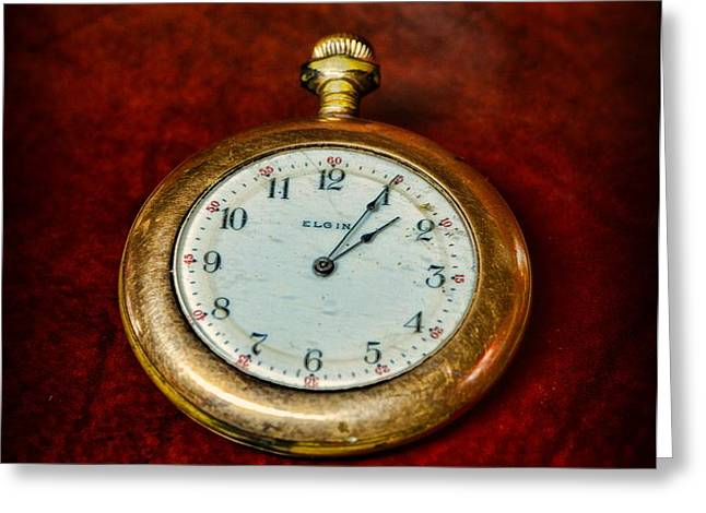 The Pocket Watch Greeting Card by Paul Ward