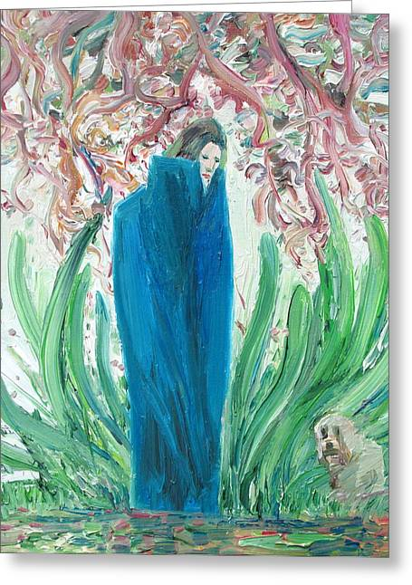 Reflex Greeting Cards - THE POET and THE DOG Greeting Card by Fabrizio Cassetta