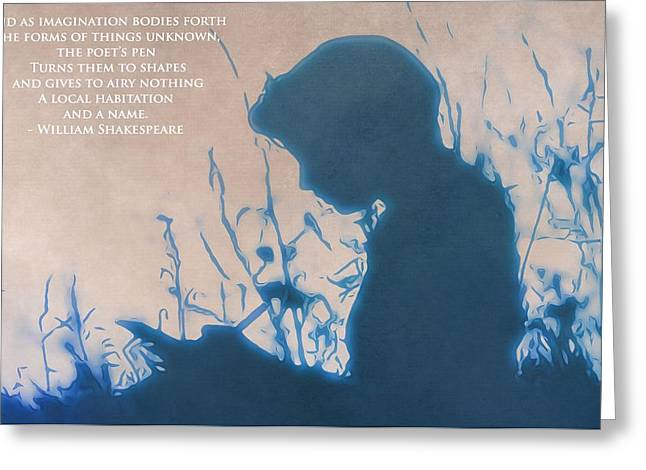 Editorial Mixed Media Greeting Cards - The Poet Greeting Card by Dan Sproul