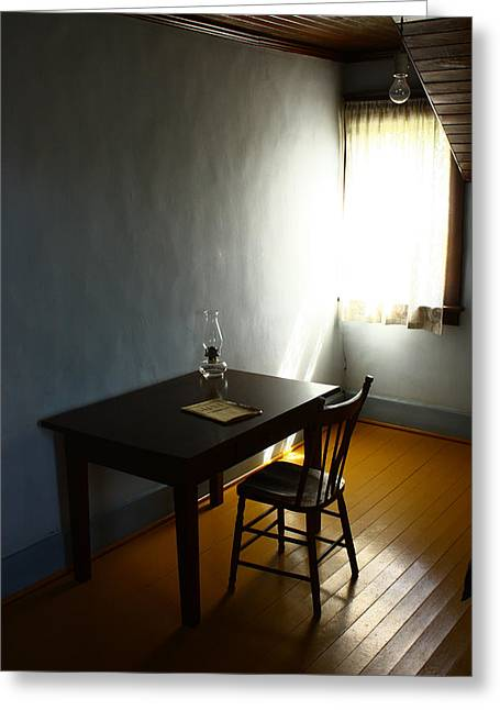 The Poets Room  Greeting Card by JC Photography and Art