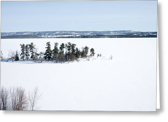 Aerial View Greeting Cards - The Point in Winter Pinheys Point Ontario Greeting Card by Rob Huntley