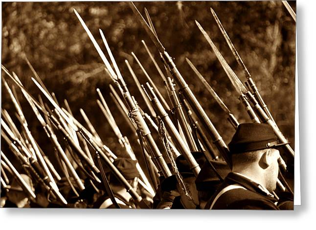 Bayonet Greeting Cards - The point of battle Greeting Card by David Lee Thompson