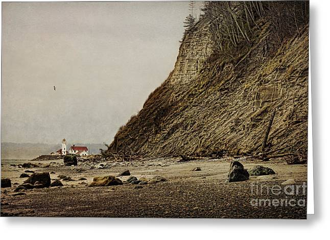 Townsends Inlet Greeting Cards - The Point Wilson Light Greeting Card by Elena Nosyreva
