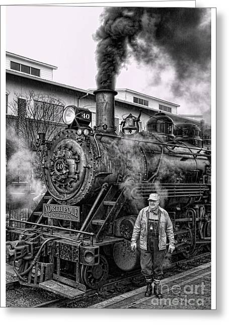 Saint Hope Greeting Cards - The Polar Express - Steam Locomotive V Greeting Card by Lee Dos Santos