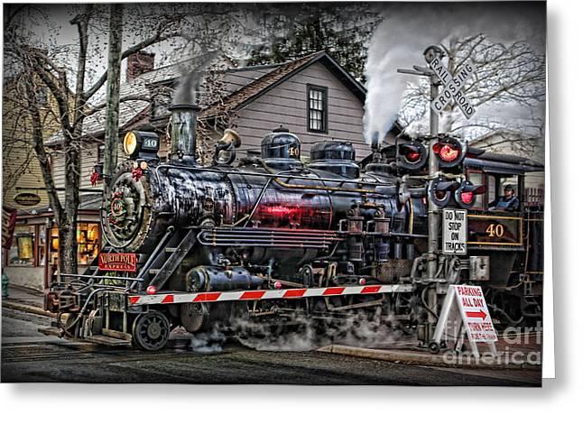 The Polar Express - Steam Locomotive IIi Greeting Card by Lee Dos Santos