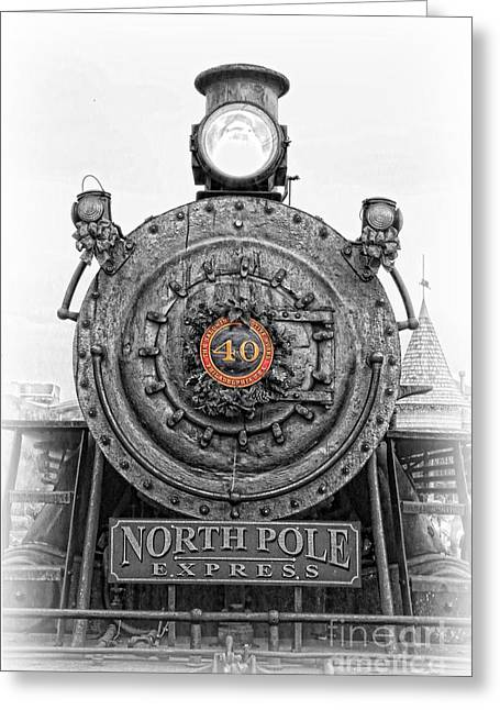 Railway Locomotive Greeting Cards - The Polar Express - Steam Locomotive IV Greeting Card by Lee Dos Santos