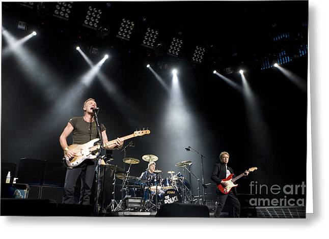 Guitar Stings Greeting Cards - The Police Greeting Card by Jason O Watson